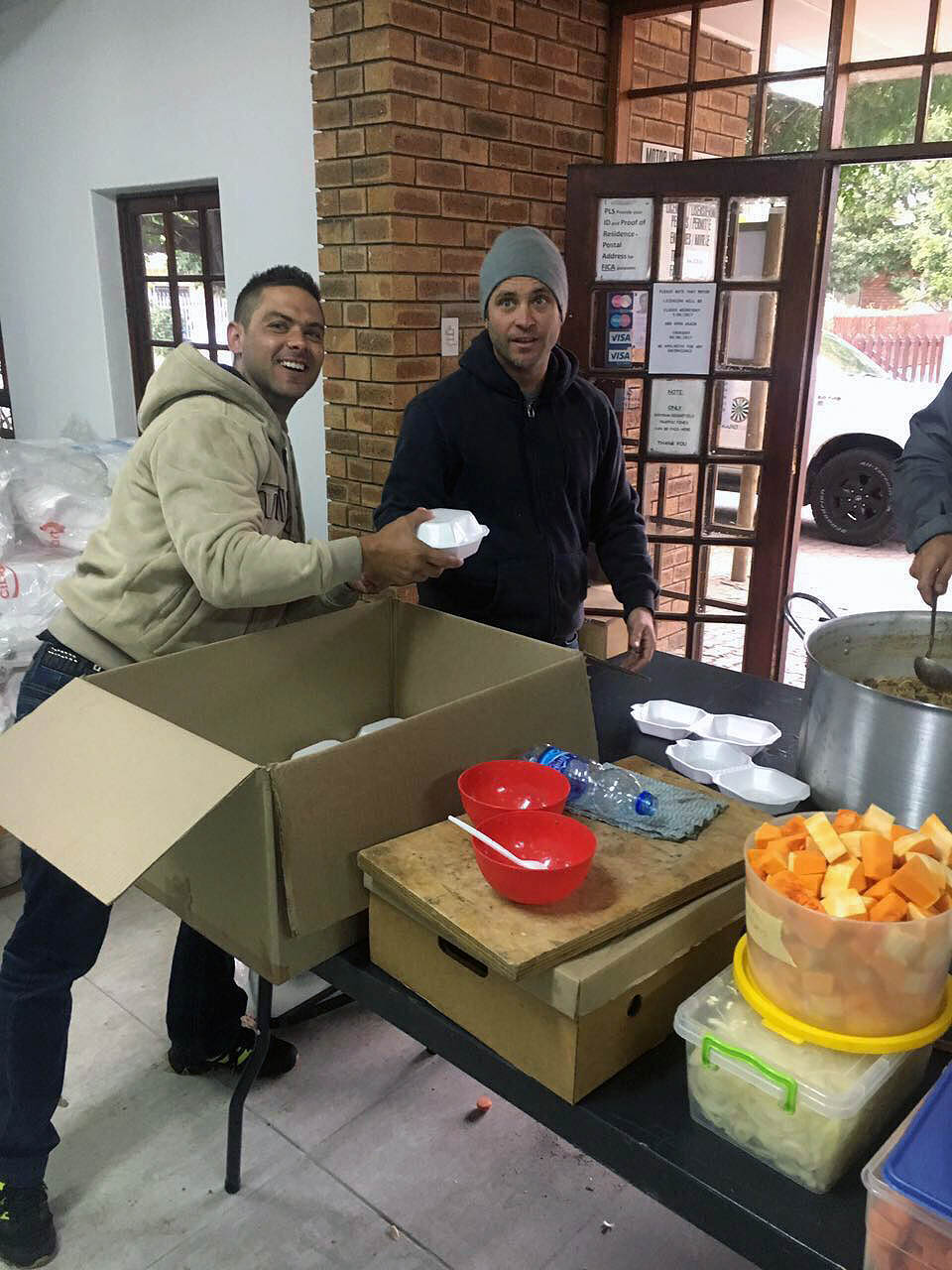 Kelsaf Packaging in East London Eastern Cape packing donations for the Knysna fires and Port Elizabeth Fires.